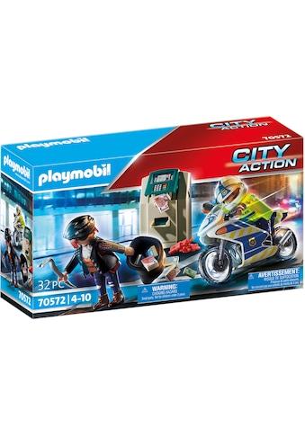 Playmobil® Konstruktions-Spielset »Polizei-Motorrad: Verfolgung des Geldräubers... kaufen