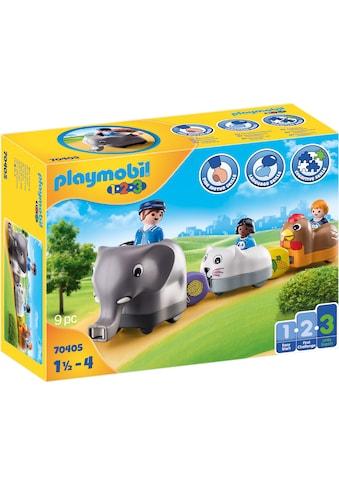Playmobil® Konstruktions-Spielset »Mein Schiebetierzug (70405), Playmobil 1-2-3«, (9... kaufen