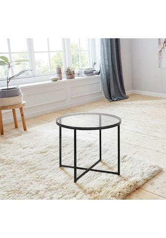 andas Couchtisch »Conrad«, mit einer Tischplatte aus schönem Rauchglas,... kaufen