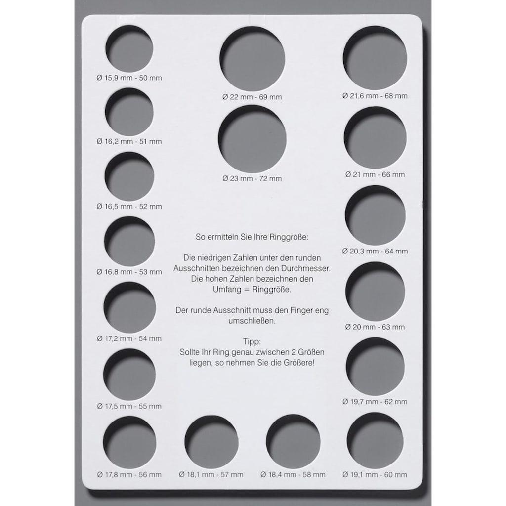 Firetti Fingerring »3-fach verschlungen, tricolor«