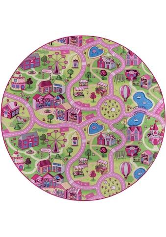 Kinderteppich, »Sweet Village«, Andiamo, rund, Höhe 7 mm, maschinell getuftet kaufen