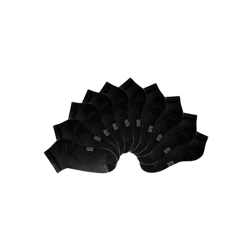 H.I.S Kurzsocken, (10 Paar), mit verstärkter Ferse und Spitze