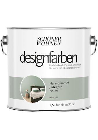 SCHÖNER WOHNEN-Kollektion Wand- und Deckenfarbe »Designfarben«, harmonisches Jadegrün Nr. 29, feinmatt 2,5 l kaufen