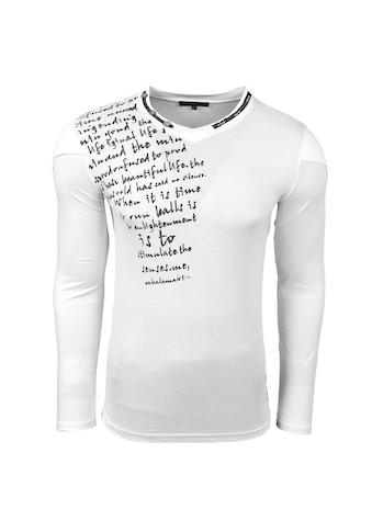 Rusty Neal Langarmshirt mit V-Ausschnitt kaufen