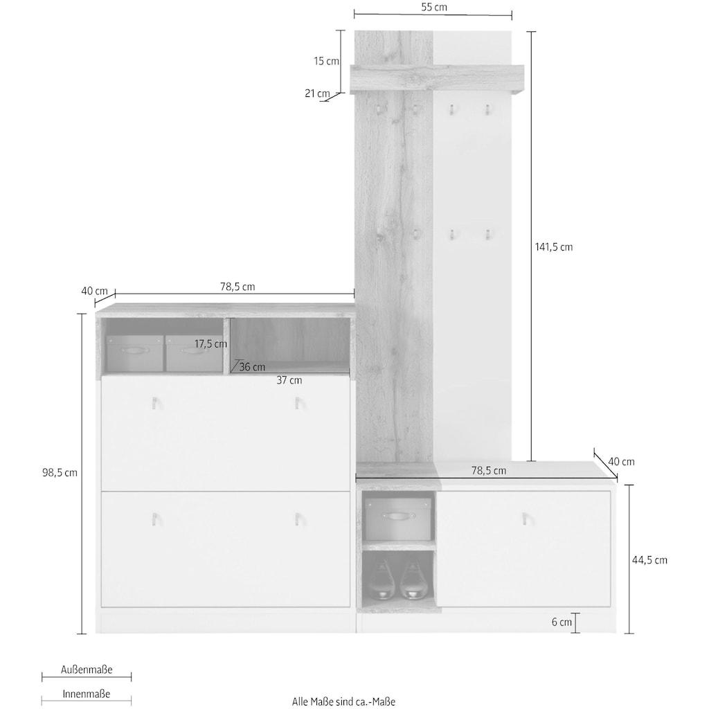 my home Garderoben-Set »Sambre«, (Set, 3 St.)