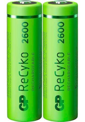 GP Batteries Akku »AA Akku GP NiMH 2600 mAh ReCyko 1,2V 2 Stück«, AA, 2600 mAh kaufen