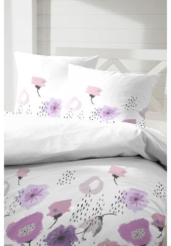 Primera Bettwäsche »Abstract flowers«, mit stilisierten Blüten kaufen