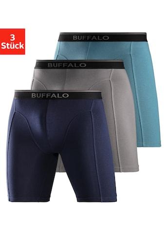 Buffalo Boxer, (3 St.), in langer Form mit Logodruck im Webbund kaufen