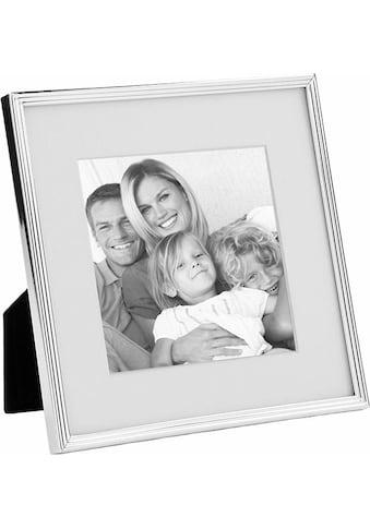 Fink Bilderrahmen »JOY, silberfarben«, Fotorahmen, mit Passepartout, für Bildformate 10x10 cm, Wohnzimmer kaufen