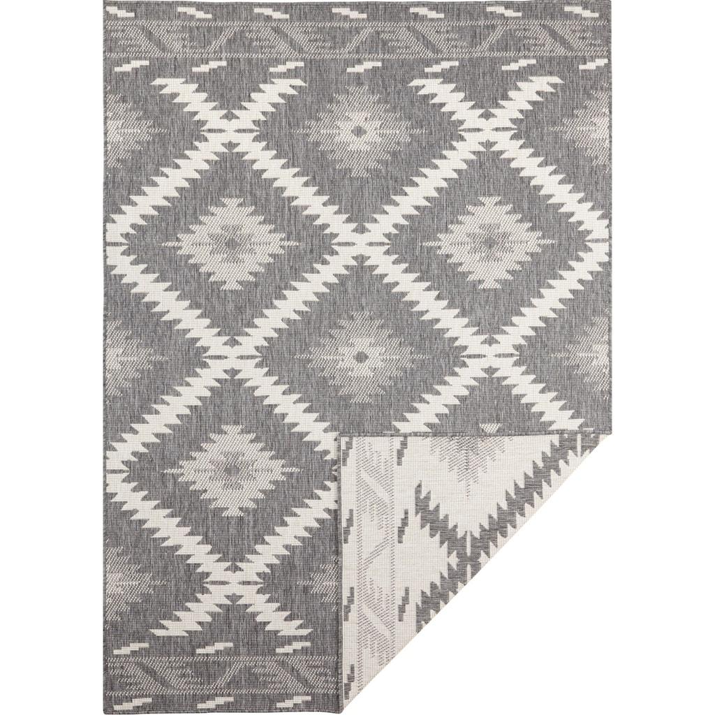 bougari Teppich »Malibu«, rechteckig, 5 mm Höhe, In- und Outdoor geeignet, Wendeteppich, Wohnzimmer