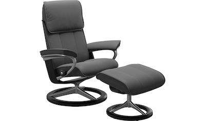 Stressless® Relaxsessel »Admiral«, mit Hocker, mit Signature Base, Größe M & L, Gestell Schwarz kaufen