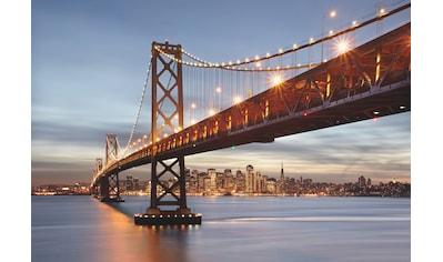 Komar Fototapete »Bay Bridge«, bedruckt-Stadt-Kunst, ausgezeichnet lichtbeständig kaufen