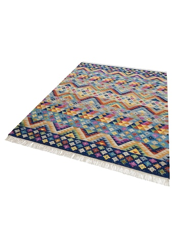 Theko Exklusiv Teppich »Koos«, rechteckig, 8 mm Höhe, mit Fransen, Wohnzimmer kaufen