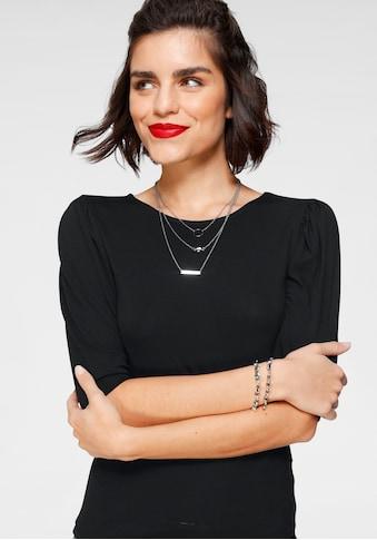 Tamaris Kurzarmshirt, mit angesagten Puffärmeln - NEUE KOLLEKTION kaufen