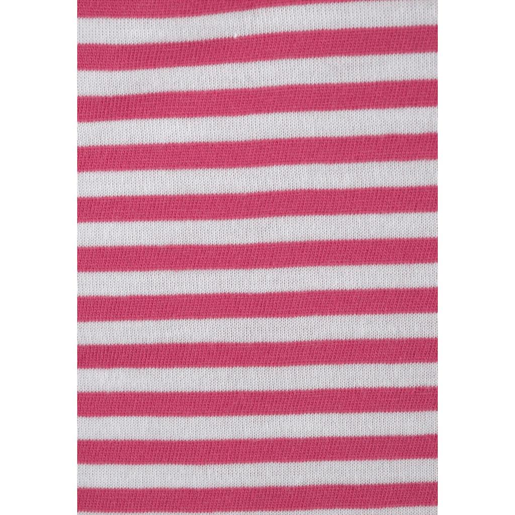 Beachtime Carmenshirt, mit elastischer Häkelspitze am Ausschnitt