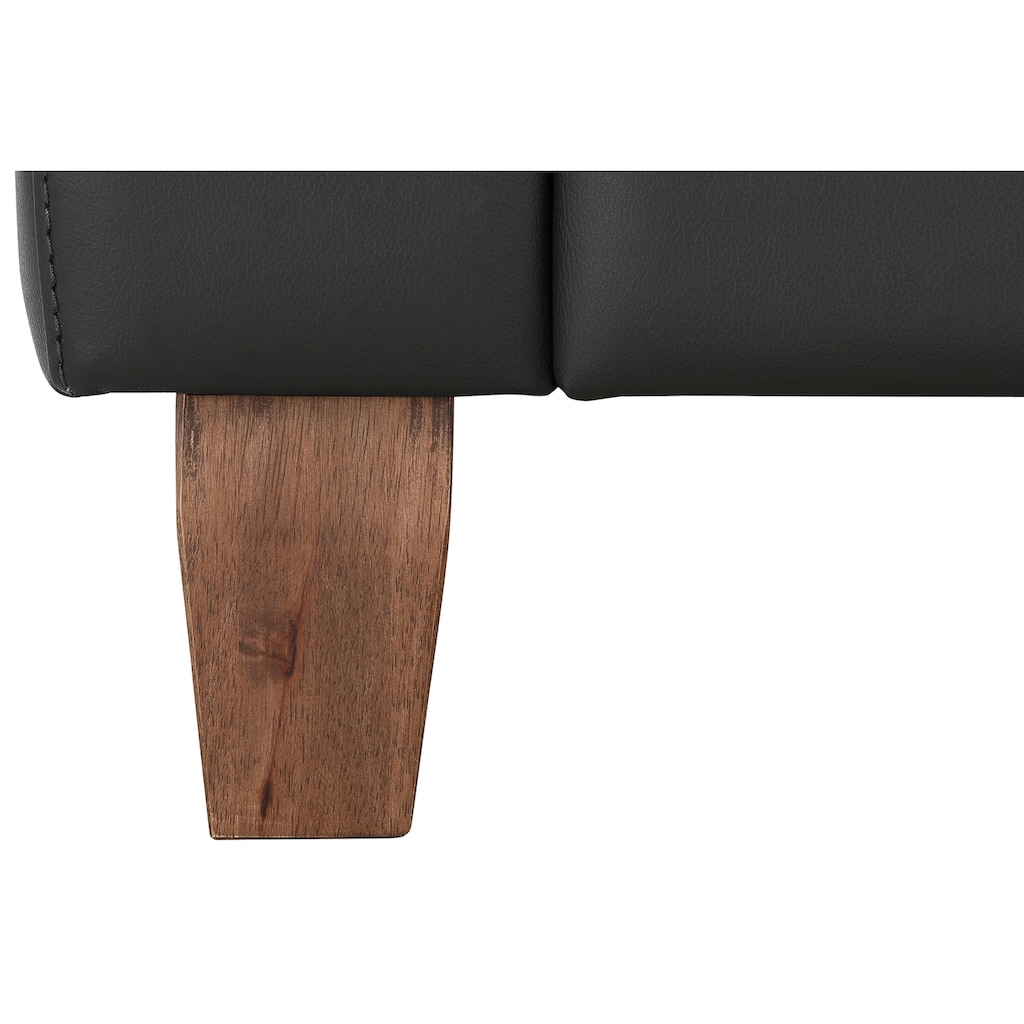 Home affaire 2-Sitzer »Luzern«, mit verstellbarer Kopfstütze und Holzfüßen