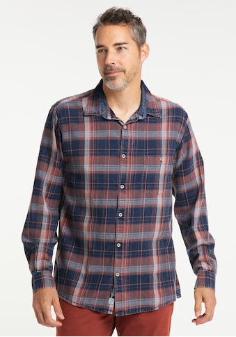 Pioneer Authentic Jeans Karohemd, Indigo-Check kaufen