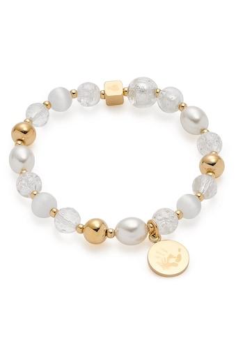 LEONARDO Edelstahlarmband »gold Hope, 018113«, mit Cat´s Eye, Glasperlen und imit. Perlen kaufen