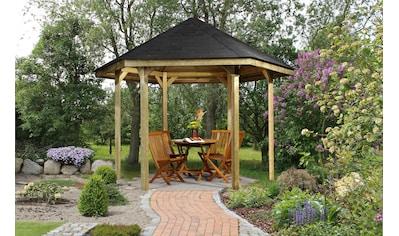weka Pavillon »Paradies 1«, (Set), BxT: 326x376 cm, inkl. Dachschindeln und Pfostenanker kaufen