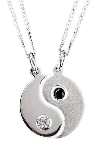 Firetti Kette und Anhänger Set »Ying-Yang Anhänger und Halsketten«, mit Zirkonia kaufen