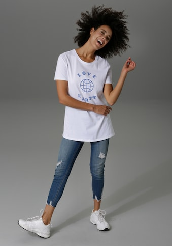 Aniston CASUAL T-Shirt, mit Druck und Statement-Schriftzug - NEUE KOLLEKTION kaufen