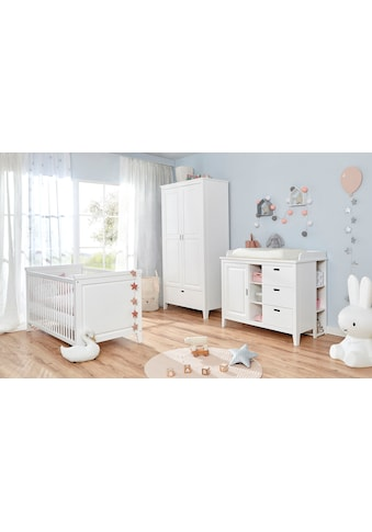 Ticaa Babyzimmer-Komplettset »Morgenroth«, (Set, 4 tlg.), Bett + Wickelkommode + Schrank + Unterstellregal kaufen