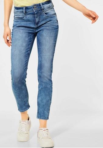 STREET ONE Ankle-Jeans, mit leichter Waschung im Used-Look kaufen