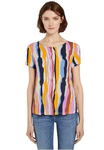 TOM TAILOR Denim T-Shirt, mit Allover-Print kaufen