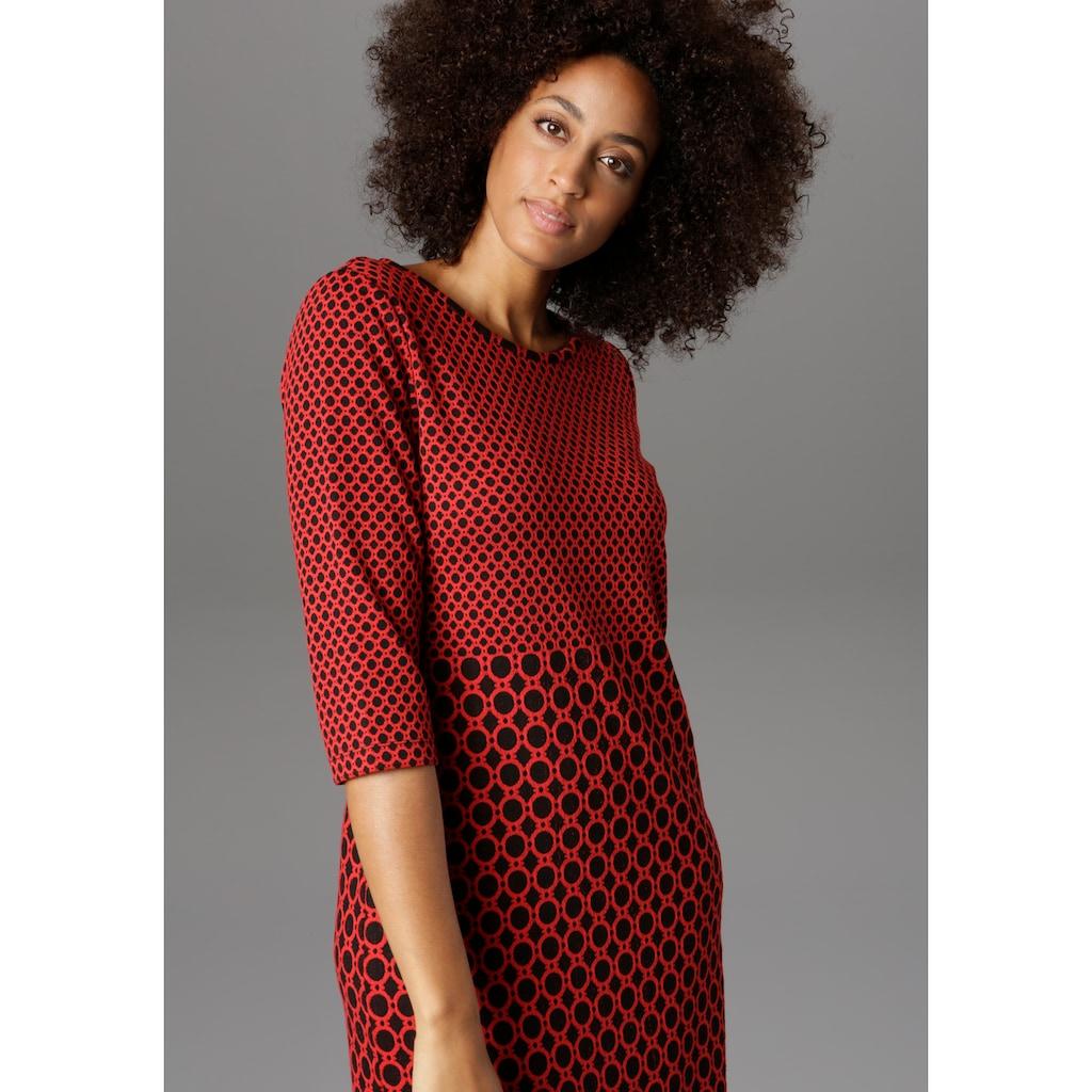Aniston SELECTED Jerseykleid, im modischen Muster