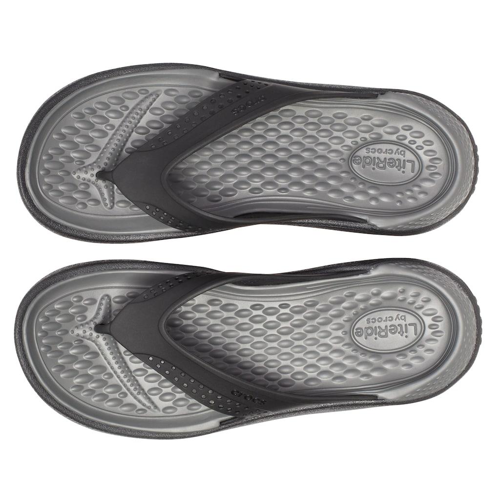 Crocs Zehentrenner »Lite Ride Flip«, mit leicht genoppter Decksohle