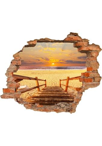 Conni Oberkircher´s Wandsticker »Stairs on the beach«, selbstklebend kaufen