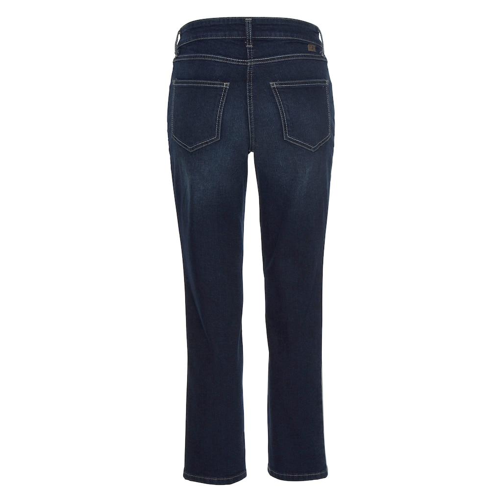 MAC Stretch-Jeans »Melanie-Glitter-Galloon«, Glitzer-Galon an auf den Seitennähten