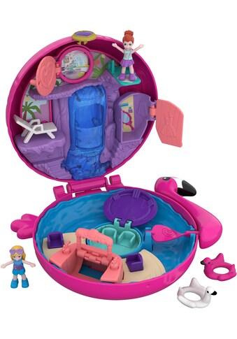 Mattel® Spielwelt »Polly Pocket, Pocket World Flamingo-Schwimmring Schatulle«,... kaufen
