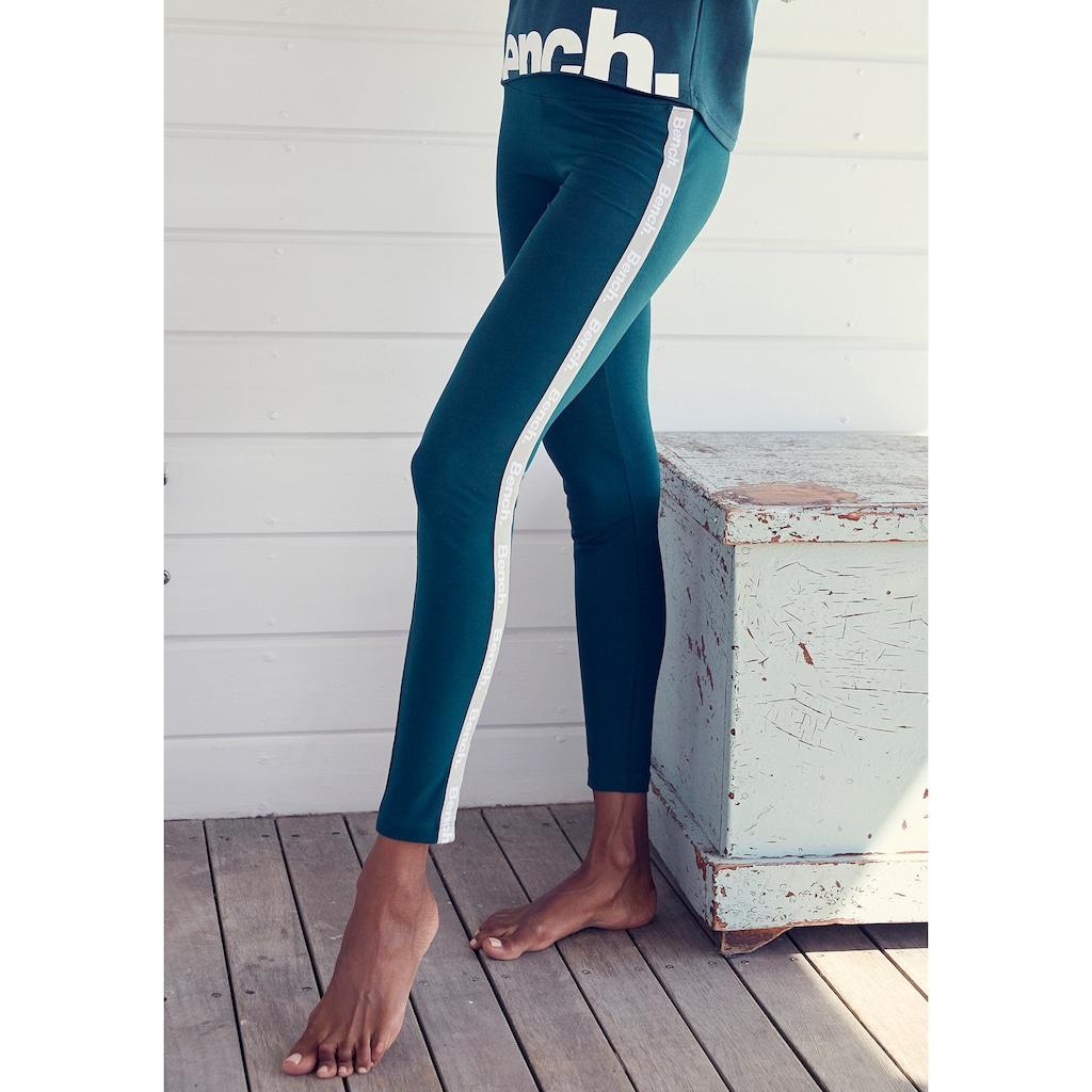 Bench. Leggings, mit bedruckten Tapestreifen
