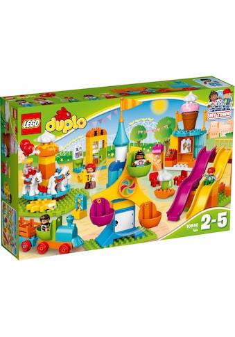 """LEGO® Konstruktionsspielsteine """"Großer Jahrmarkt (10840), LEGO® DUPLO® Town"""", Kunststoff, (106 - tlg.) kaufen"""