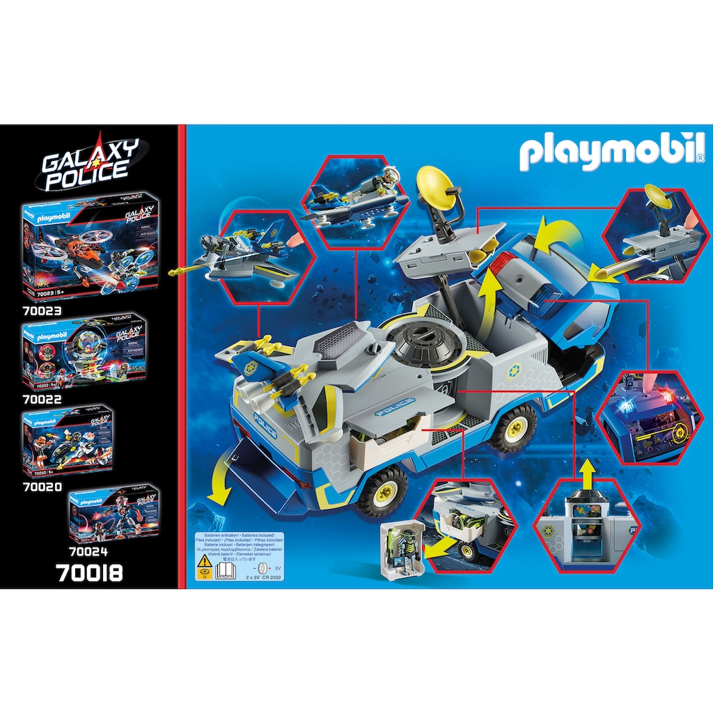 Playmobil® Konstruktions-Spielset »Galaxy Police-Truck (70018), Galaxy Police«, (131 St.), Made in Europe