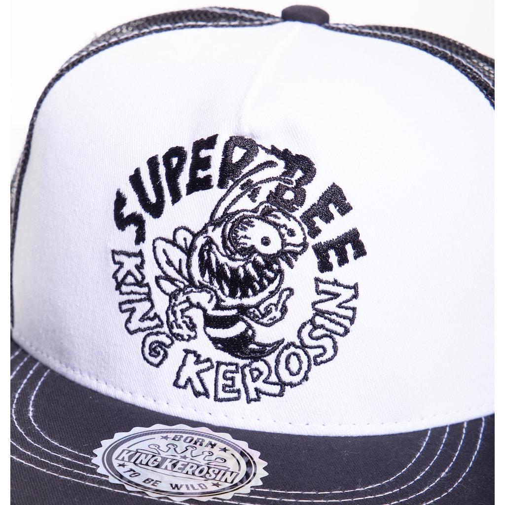KingKerosin Baseball Cap »Super Bee«, mit Netzeinsatz