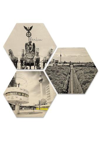 Wall-Art Mehrteilige Bilder »Typisch Berlin Stadtbilder Set«, (Set, 3 St.) kaufen