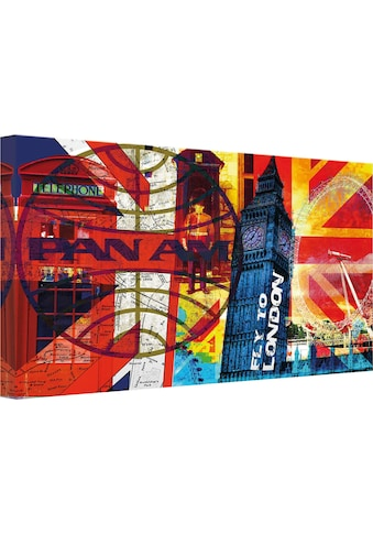 Wall-Art Leinwandbild »PAN AM - London« kaufen