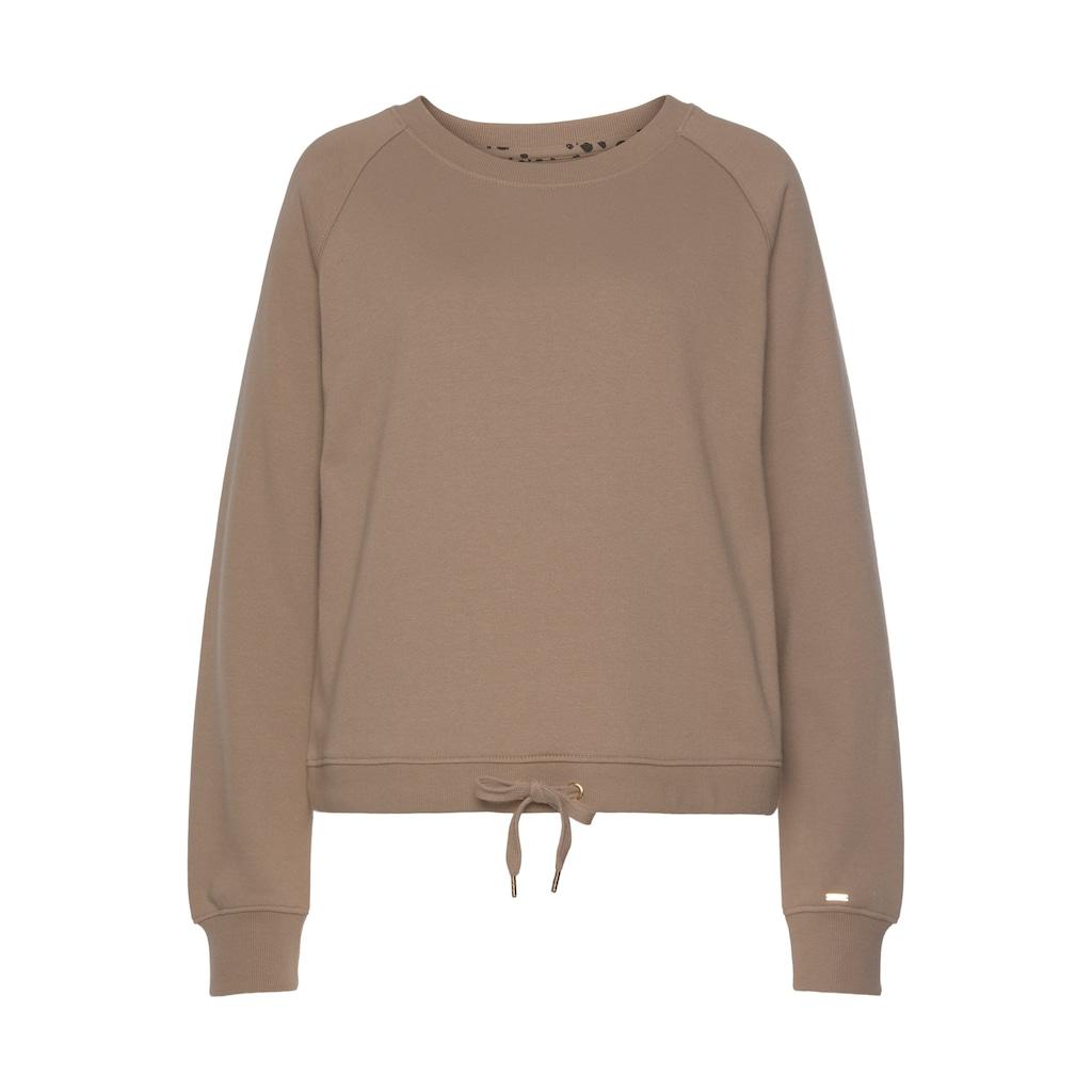 Buffalo Sweatshirt, mit regulierbaren Kordelzug am Saum