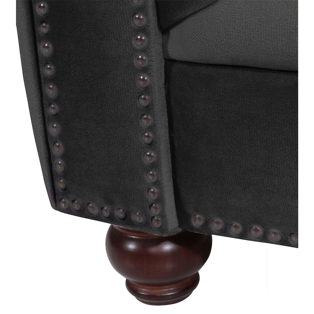 Max Winzer® Polstergarnitur »Old England«, (3 St.), mit edler Knopfheftung, 3-tlg.