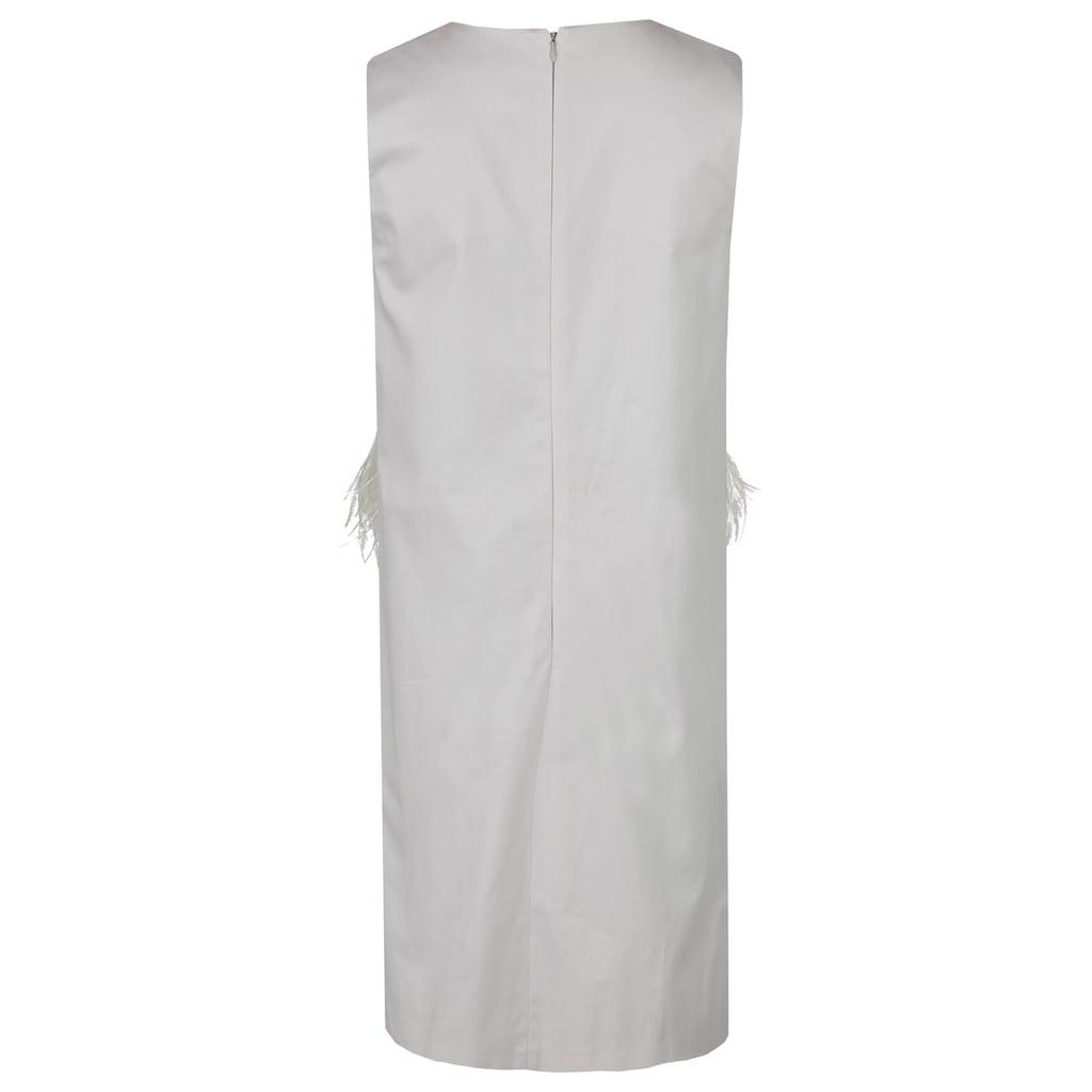 Daniel Hechter Elegantes Kleid mit Federn