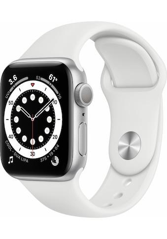 Apple Smartwatch »Apple Watch Series 6 GPS, Aluminium Gehäuse, 40 mm mit Sportarmband«, ( ) kaufen