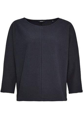 OPUS Sweatshirt »Gufi«, in modischer Streifen-Struktur kaufen