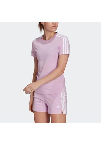 adidas Performance T-Shirt »ESSENTIALS SLIM 3-STREIFEN« kaufen