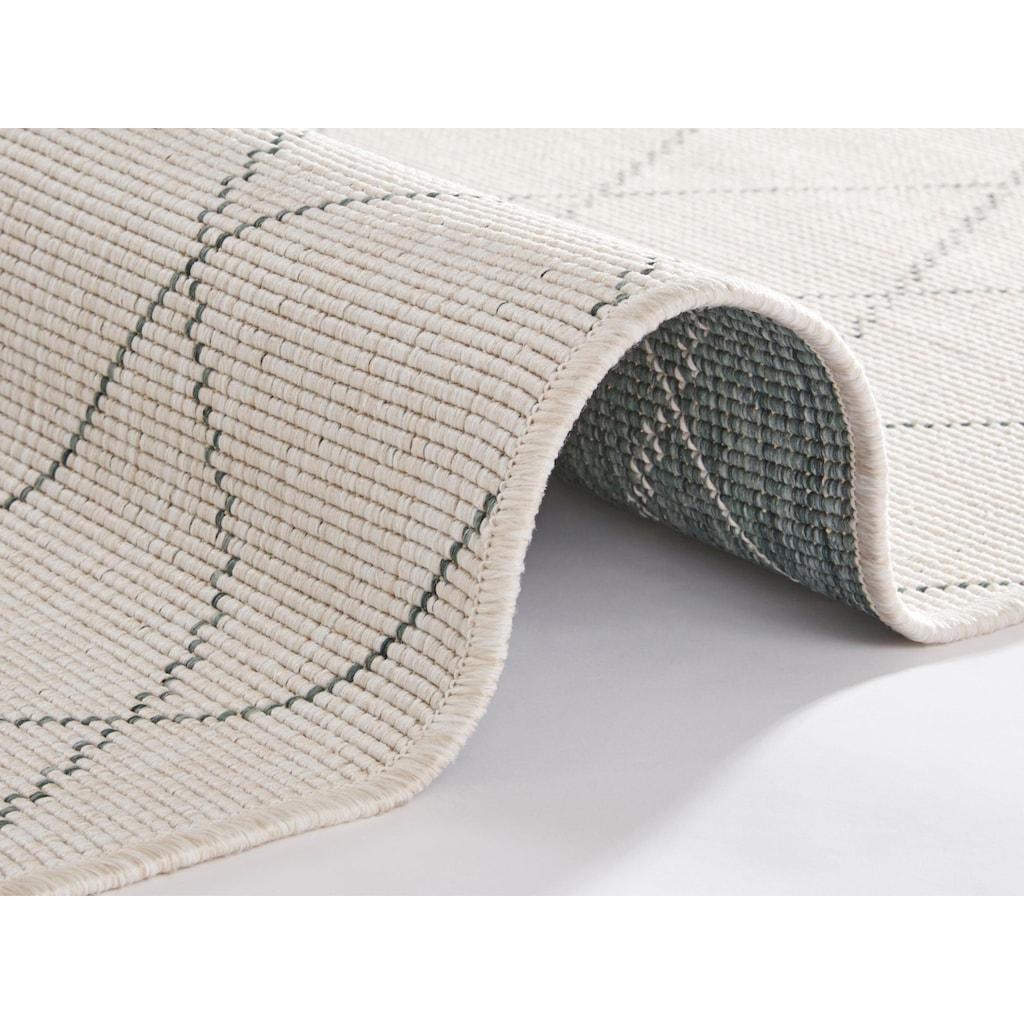 freundin Home Collection Läufer »Daisy«, rechteckig, 5 mm Höhe, In- und Outdoor geeignet, Wendeteppich
