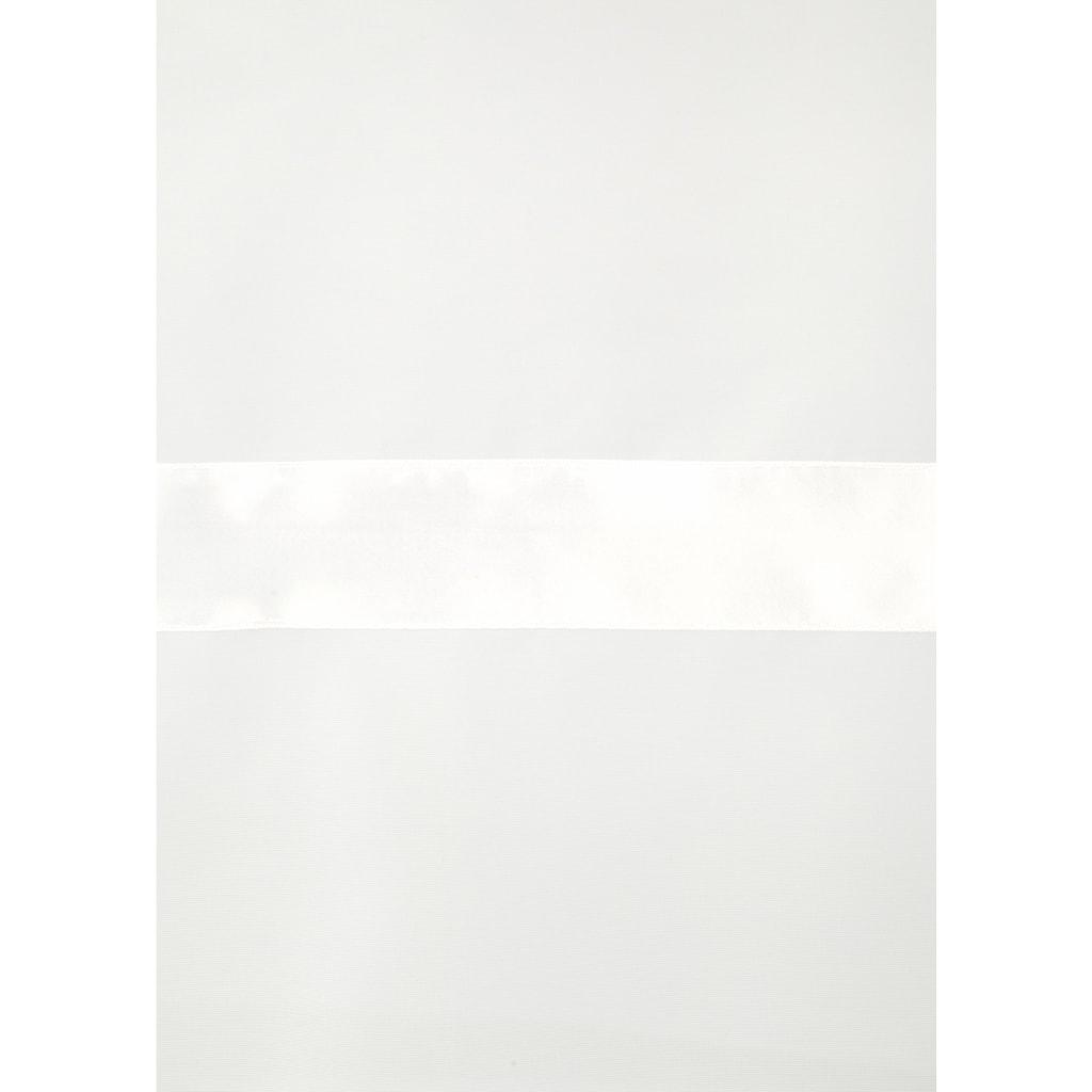 my home Scheibengardine »EBY«, Fertiggardine, Mit farbigem Satinband, transparent