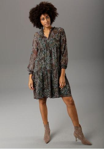 Aniston CASUAL Chiffonkleid, mit Paisley- oder Blütendruck - chic sind beide - NEUE... kaufen