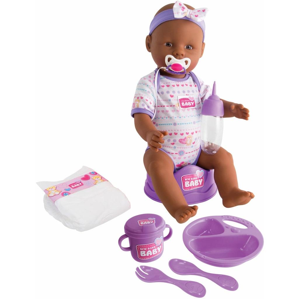 SIMBA Babypuppe »New Born Baby«, (1 tlg.), Violettes Zubehör