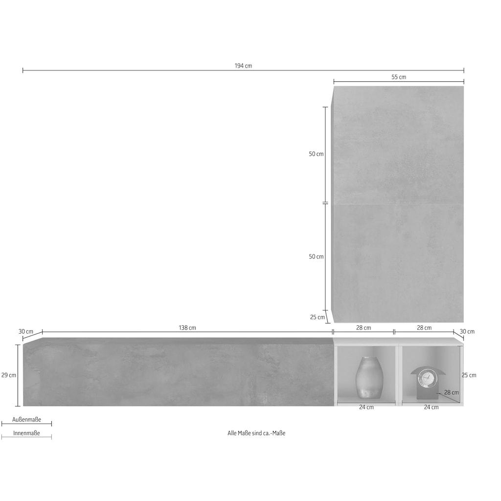 LC Wohnwand »Infinity«, (Set, 4 tlg.)